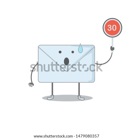 a vector, character of mail man, got 30 inbox mail, shocked because the user still didn't open unread messages, can be used for icon, website apps, mobile apps