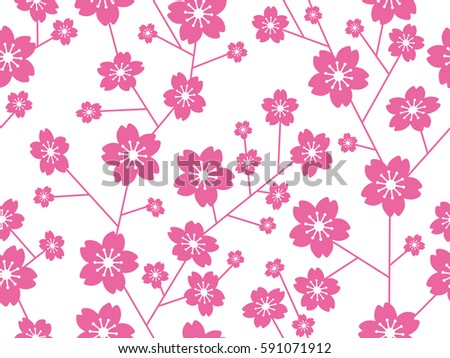 a vector cherry blossom pattern
