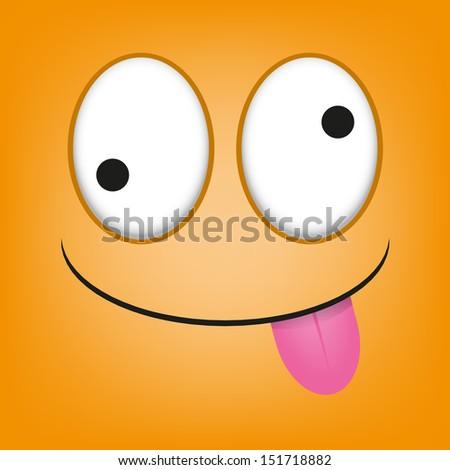 Psycho Cartoon Face Cartoon Orange Face With