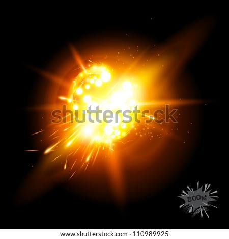 A Vector Explosion! Special effect with transparencies