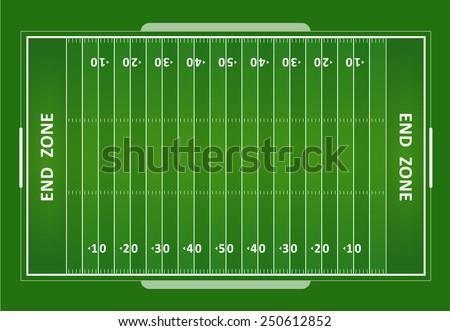 A vector grass textured American football field. EPS 10.