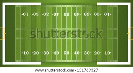 Shutterstock A vector grass textured American football field. EPS 10. File contains transparencies.