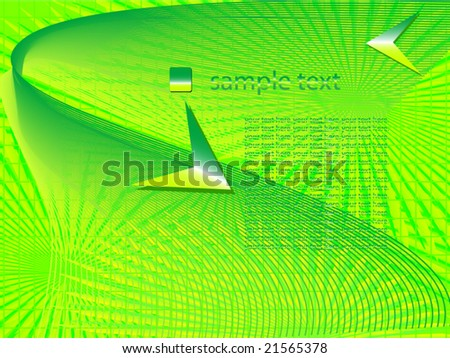 A vector green background.