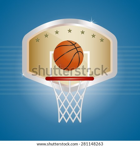 A vector illustration of a basketball EPS 10