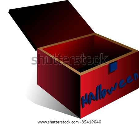A vector illustration of a box. All obgects can be moved edited and scaled separetly without quality loss.