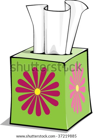 a vector illustration of a box of tissue