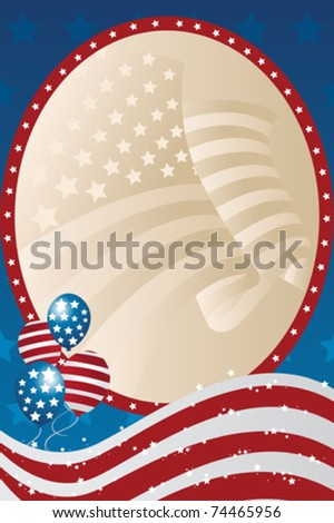 A vector illustration of a fourth of July banner