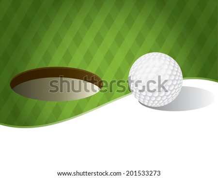a vector illustration of a golf