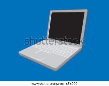 A vector illustration of a laptop computer