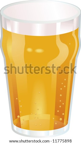 A Vector illustration of a Nice Pint of Beer