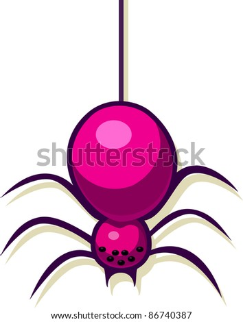 A vector illustration of a spider. Can be recolored or scaled without problems and quality loss - stock vector