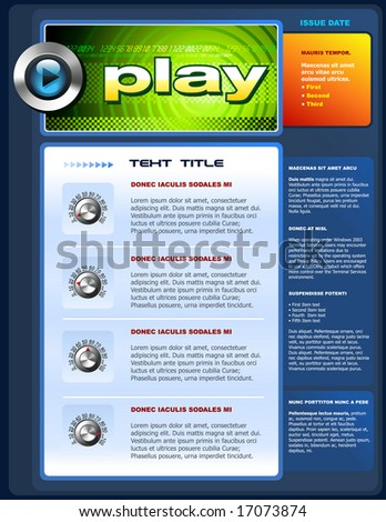 A vector illustration of a techy brochure template.