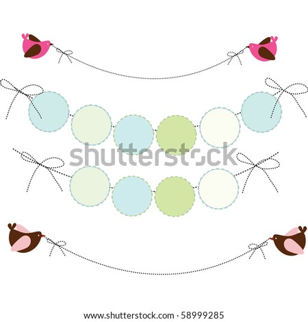 A Vector Illustration Of A Wall Decor Party Banner Design