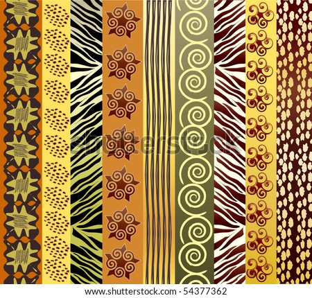 A vector illustration of African fabric in earth tones