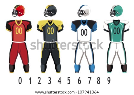 vector football jersey - download free vector art, stock graphics