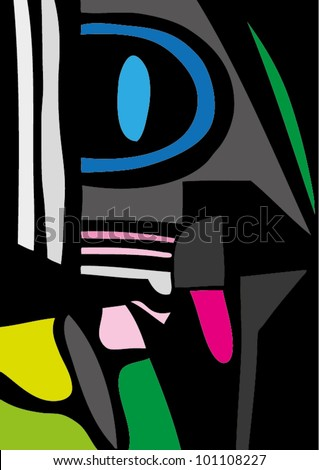 A vector illustration of an abstract painting.