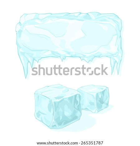 a vector illustration of an ice