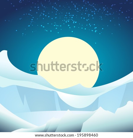 a vector illustration of arctic