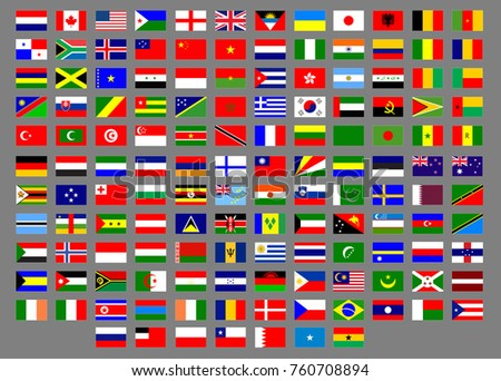A vector illustration of Countries flags in a simple easy way to grab them all. in total 139 flag