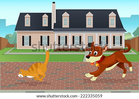 a vector illustration of dog