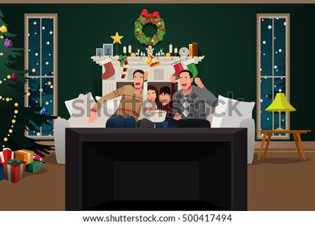 a vector illustration of family