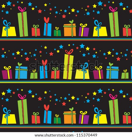 A vector illustration of gift boxes background / Happy holiday