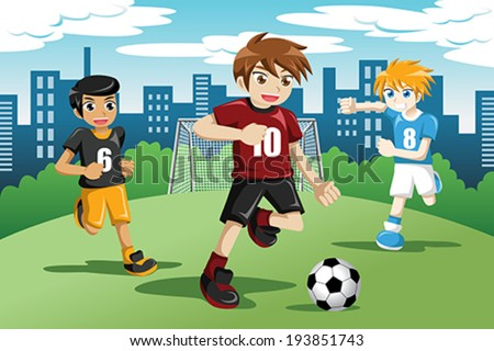 stock-vector-a-vector-illustration-of-happy-kids-playing-soccer