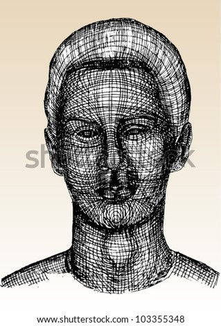 A vector illustration of human head.