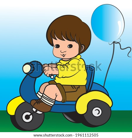 a vector illustration of kid