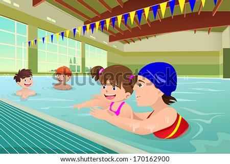 a vector illustration of kids