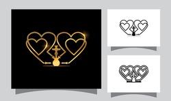 A Vector Illustration of Love Shisha Vector Sign