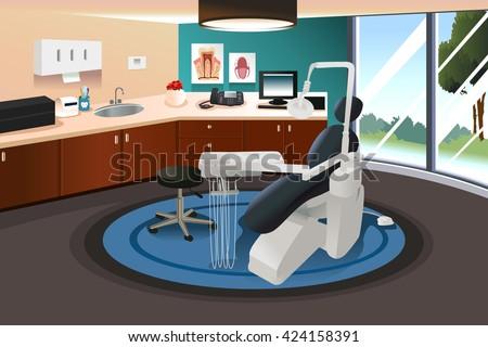 modern interior office stock. A Vector Illustration Of Modern Interior Dentist Office Stock