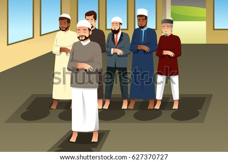 a vector illustration of muslim