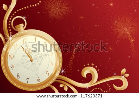 A vector illustration of New Year celebration design