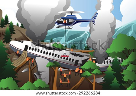 a vector illustration of rescue