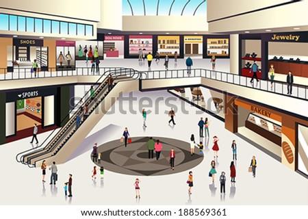 a vector illustration of scene