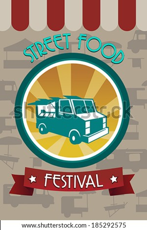 A vector illustration of street food festival pamphlet design