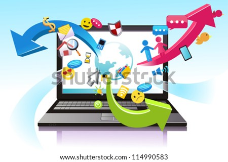 A vector illustration of the concept of information technology