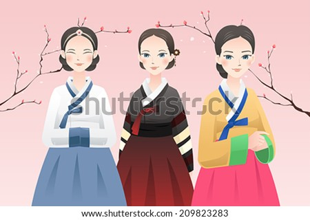 a vector illustration of women