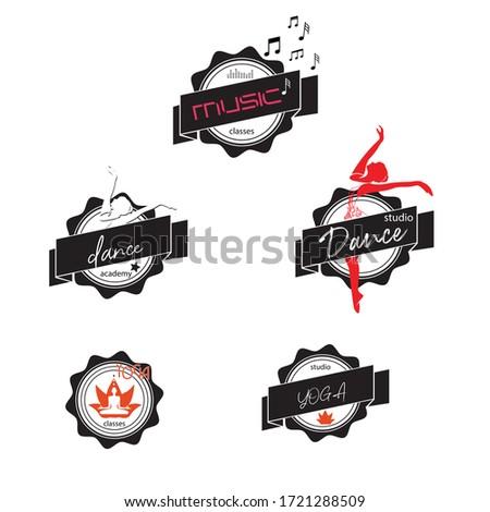 A vector illustrator for balle dancer , muzic , yogo symbol, sticer, logo and concept Imagine de stoc ©