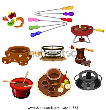 A vector illustrator of fondue icon sets