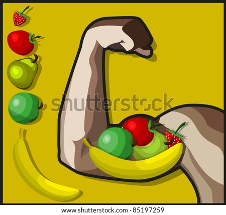 A vector image of a Healthy and strong arm.