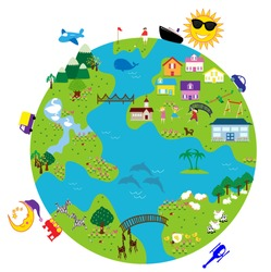 a vector image of a world map