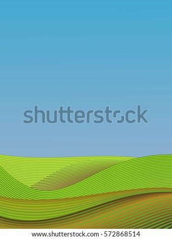 a vector landscape  an...