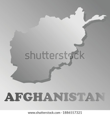 a vector map of afghanistan