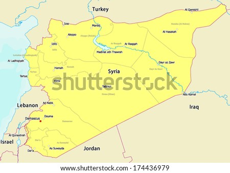 Free Vector Map Of Syria Free Vector Art At Vecteezy - Large image map of us vector labels