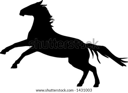 rearing horse silhouette. rearing horse silhouette. of a horse rearing on it#39;s