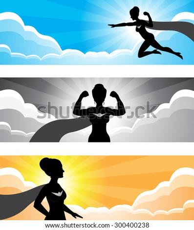 a vector of a superhero girl
