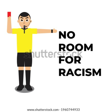 a vector of football referee