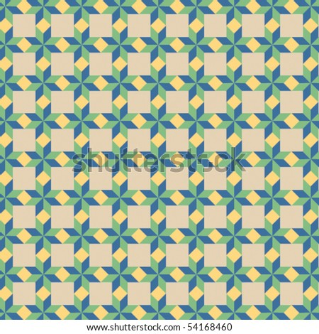 A vector, retro floor tile pattern - stock vector